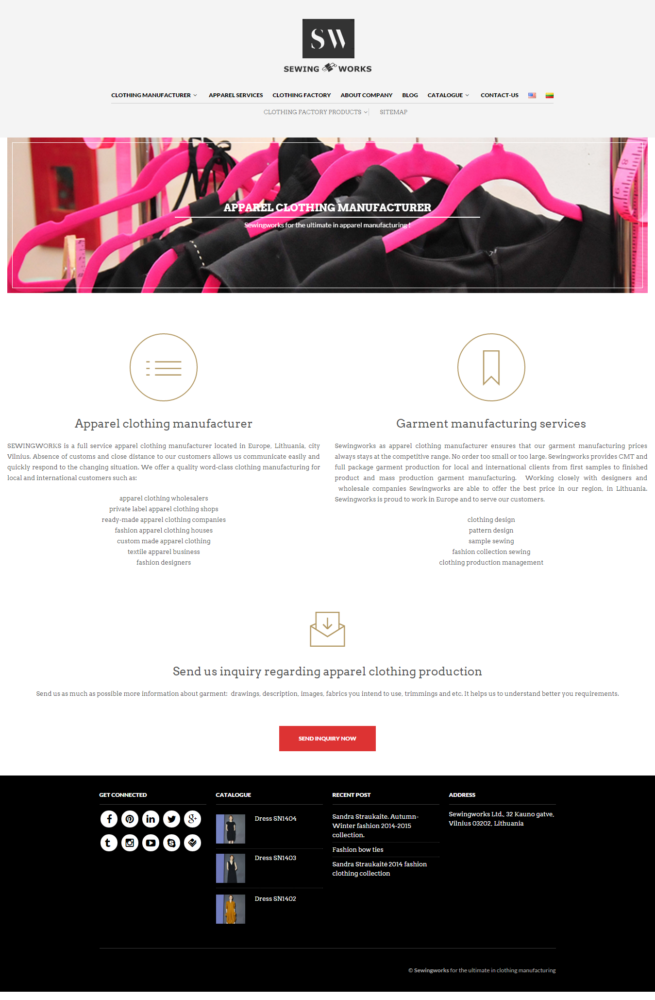 Web design analysis: industry - Clothes manufacturing industry #12